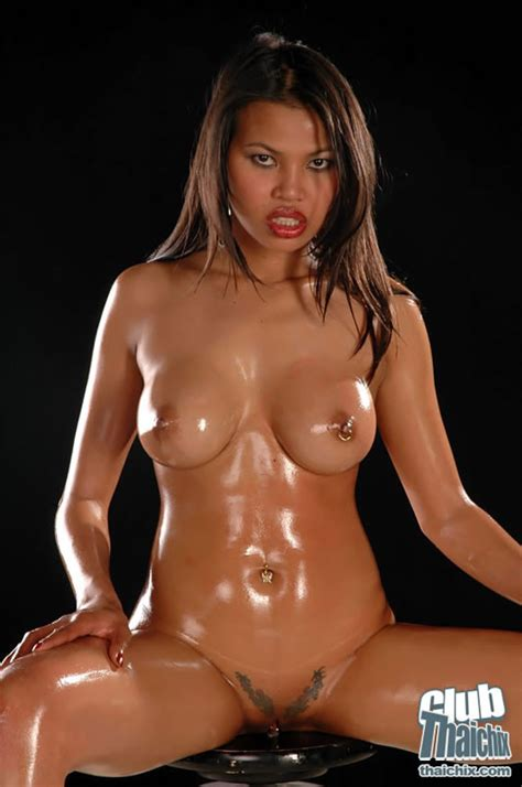 Shaved And Busty Sai Tai Tiger Oiled Up Pichunter