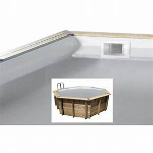liner ubbink octogonale pour piscine bois ocea 75 100eme With liner piscine hors sol octogonale bois