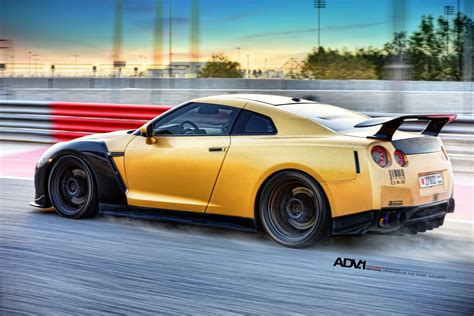 gold nissan car gold carbon ams nissan gt r with adv 1 wheels gtspirit