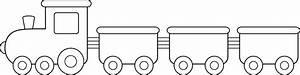 Train Black And White Clipart