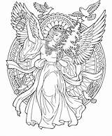 Christmas Drawing 8th Angel Coloring Pages sketch template