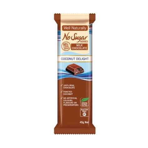 You don't need sugar to make amazing treats. Milk Chocolate - Coconut Delight - No Sugar Added 45-90gm ...