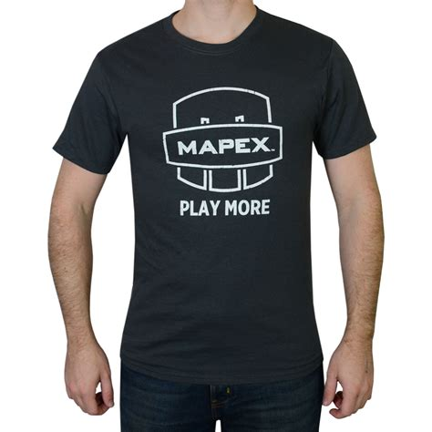 mapex charcoal play more drummer t shirt charcoalpm