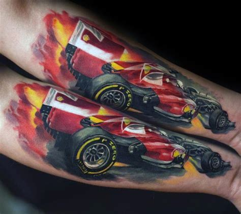 ferrari tattoo ideas  men italian sports car designs