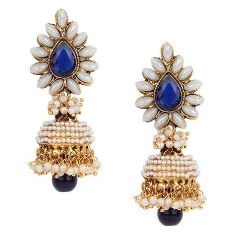 Ethnic Indian Jewelry Set Chandni Pearl Earrings Set. Druzy Gold Jewellery. Floral Gold Gold Jewellery. Floral Nose Gold Jewellery. Panchaloha Gold Jewellery. Arm Cuff Gold Jewellery. Clip On Gold Jewellery. Fusion Gold Jewellery. Elegance Gold Jewellery