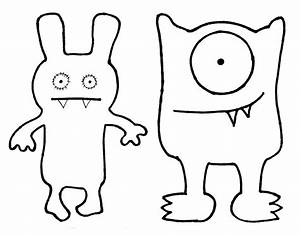 Ugly dolls coloring pages az coloring pages for Template monstre