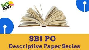 sbi po mains descriptive paper letter writing