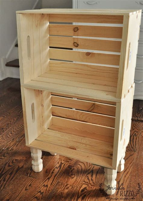diy crate side table  easy storage crate furniture
