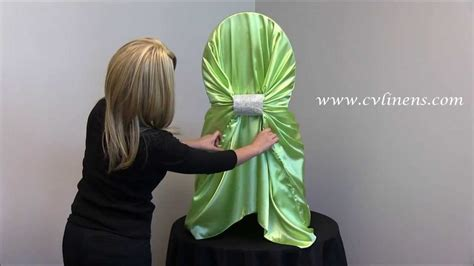 how to tie a universal satin self tie chair cover