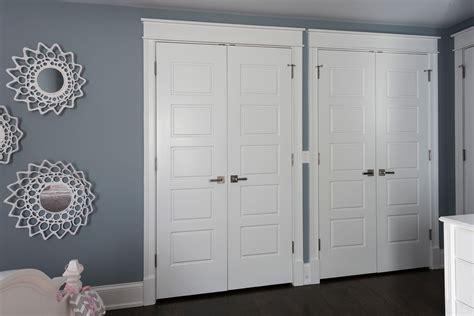 Customized Closet Doors by 5 Panel Paint Grade Mdf Closet Doors With