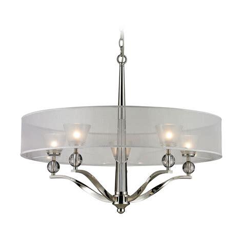 modern chandelier modern chandelier with silver shade in polished nickel