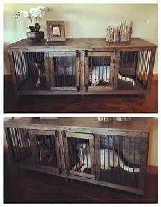 best 25 diy dog crate ideas on pinterest dog crate diy With long dog kennel