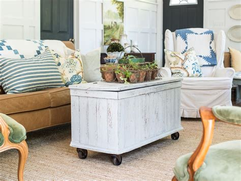 Add Casters To An Antique Trunk For A Mobile Coffee Table