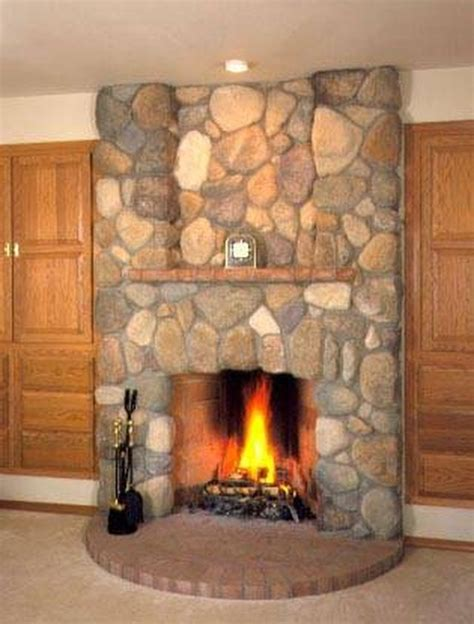 river rock fireplace how to install river rock on a fireplace surround hunker