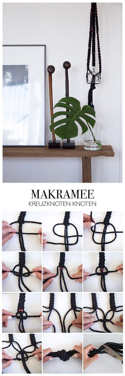 Makramee Blumenel Diy by Diy Makramee Kn 220 Pfen Anleitung Aus Kreuzknoten