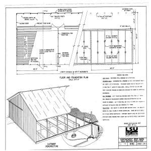 confinement beef barn gable roof