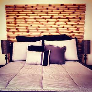 bamboo headboard dream homes pinterest