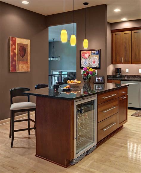 kitchen island with wine fridge kitchen island with wine fridge pictures also outstanding 8278