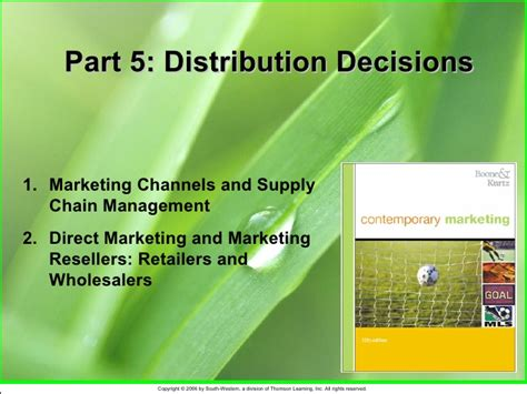 distribution decisions