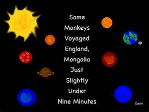 Mnemonic for the 8 Planets (page 2) - Pics about space