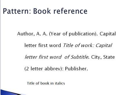 Example Of A Reference Page In Apa Format For Book