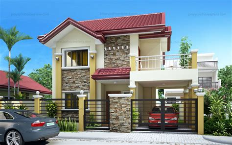 rachel lovely  bedroom  storey pinoy house plans