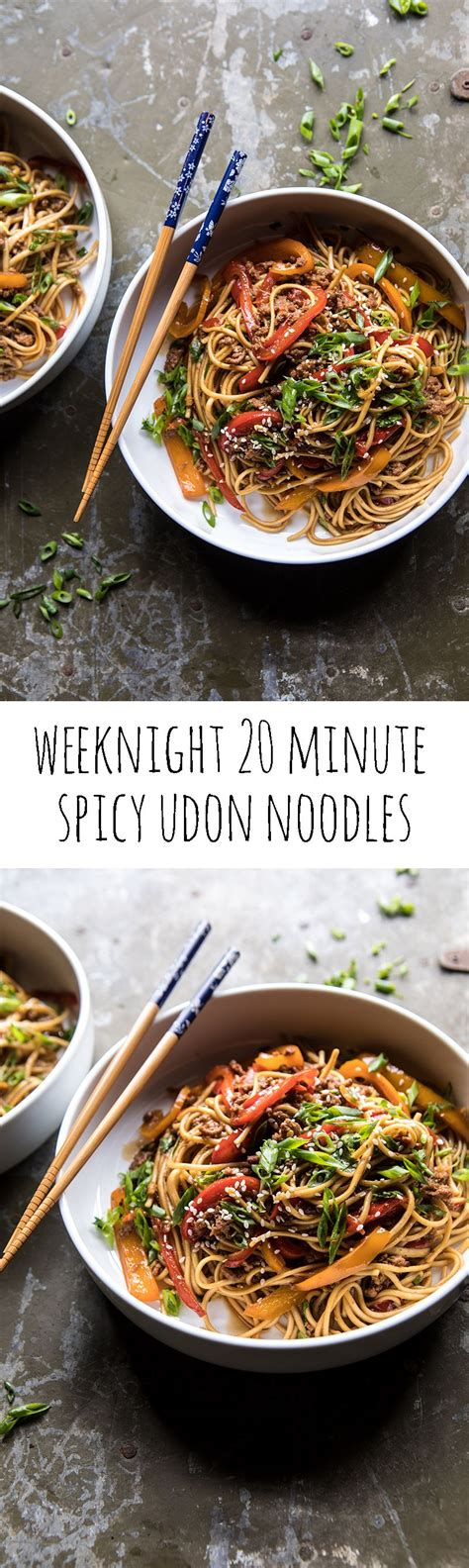 weeknight  minute spicy udon noodles recipe asian