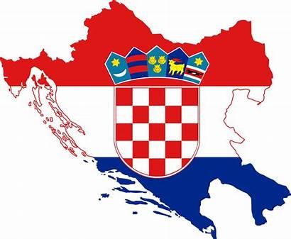 Croatia Flag Map Greater Svg