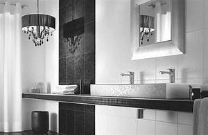 Nice simple design modern bathroom mosaic tiles that can for Black and white modern bathroom