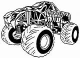 Monster Truck Coloring Pages Printable Trucks sketch template