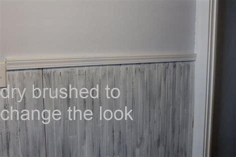 Best Way To Paint Beadboard : Distressing Beadboard Using The Dry Brush Method