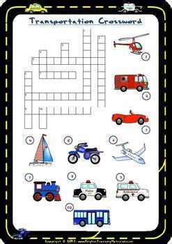 transportation crossword free worksheet by prestige