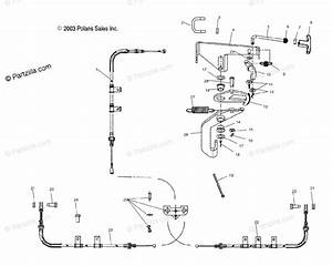 Polaris Side By Side 2004 Oem Parts Diagram For Park Brake