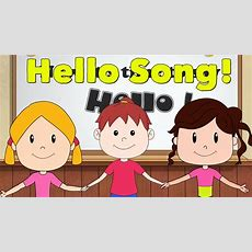 Hello Song For Kids  Kindergarten And Preschool Song  Elf Learning Chords Chordify