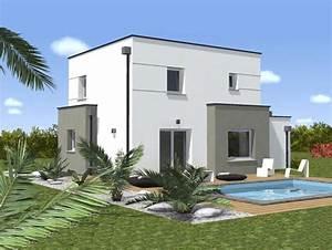 couleur de facade moderne obasinccom With facade de maison contemporaine