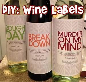 diy personal wine labels great gifts With do it yourself wine labels