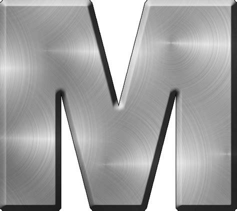 presentation alphabets brushed metal letter a presentation alphabets brushed metal letter m 31331