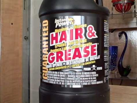 instant power hair grease clog remover youtube