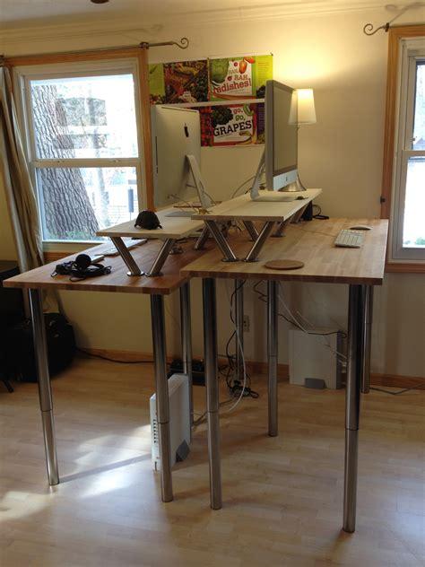 Diy Crank Standing Desk by Electric Adjule Desk Legs Whitevan