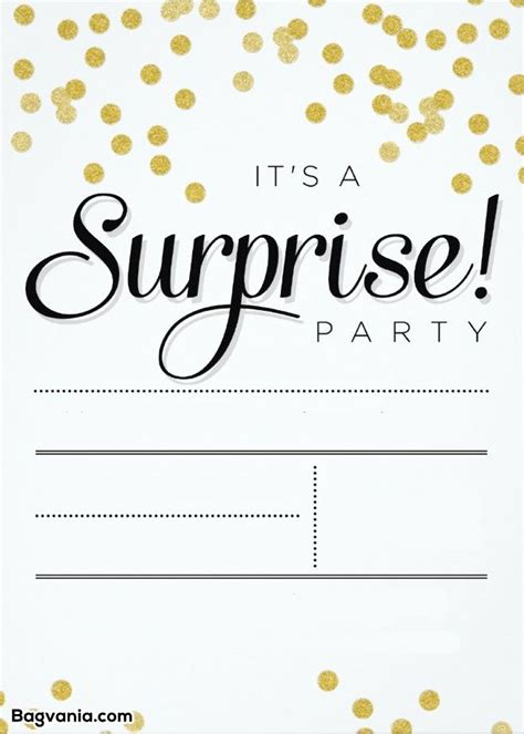 Free Printable Surprise Birthday Invitations Bagvania