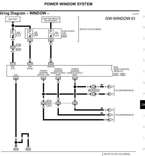 Need Wiring Diagram For The Left Front Window Switch
