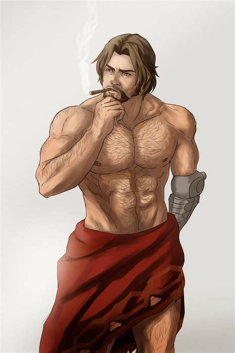 shirtless mccree art sketches statue