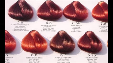shades  red hair color chart red hair color chart style youtube