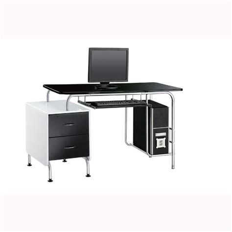 bureau metal noir bureau bu89 métal laqué noir blanc achat vente bureau