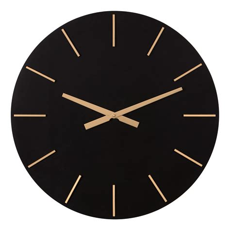 """This modern wall clock will add a clean, fresh touch to your home decor. Patton Wall Decor 24"""" Modern Minimalist Black and Gold ..."""