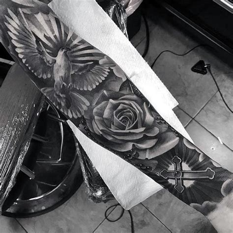 badass cross tattoos  men manly design ideas