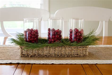 fabulous kitchen table centerpieces presented with bright color and simple decoration