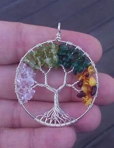 Tuto Attrape Reve Arbre De Vie : pendentif arbre de vie 4 saisons par ethora sur etsy ~ Voncanada.com Idées de Décoration