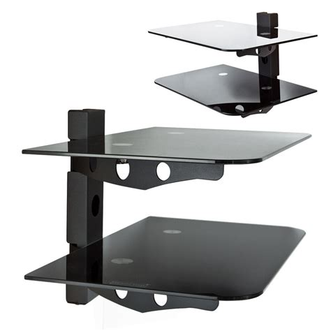 Tv Shelf For Cable Box by Component 2 Tier Wall Mount Shelf Av Dvd Cable Box