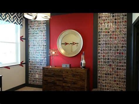 installing  baseball card wall youtube